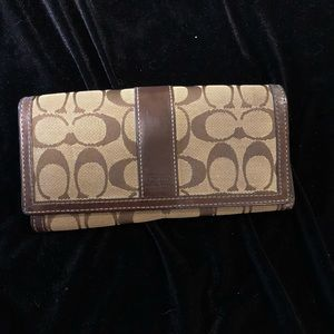 Coach canvas and leather wallet
